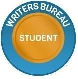 Writer's Bureau Student Badge.