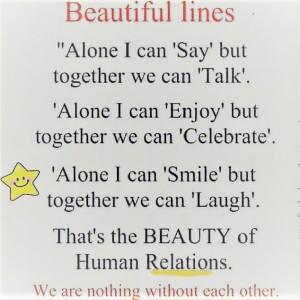Me alone vs togetherness